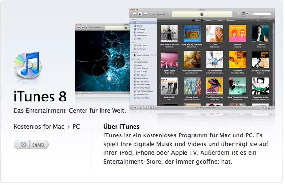 iTunes für Mac und pC